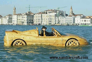 automovil de madera - Car made out of Wood
