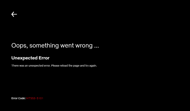 Netflix Error code: m7353-5101 — FIX HERE