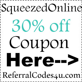 30% off Squeezed Online Juice Coupon Jan, Feb, March, April, May, June, July, Aug, Sep, Oct, Nov, Dec