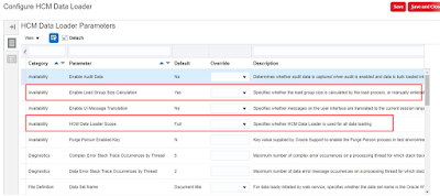 Configure HCM Data Loader parameters in Fusion HCM Oracle HCM Cloud HDL