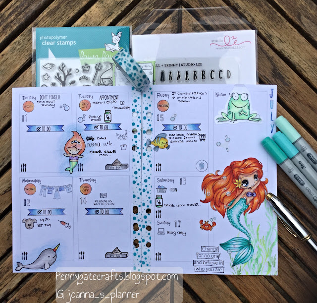 Decorated-planner-Ariel-mermaid