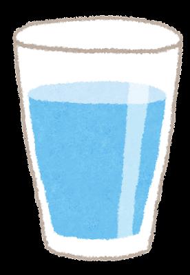 コップと水のイラスト