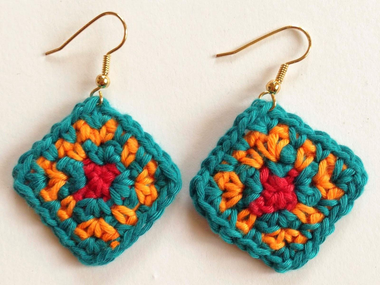 crochet rockstar: The Colors of Africa Crochet Earrings