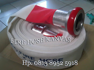 Fire hose Kanvas White color