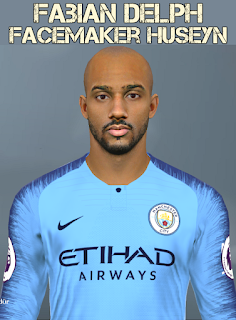 PES 2017 Faces Fabian Delph by Facemaker Huseyn