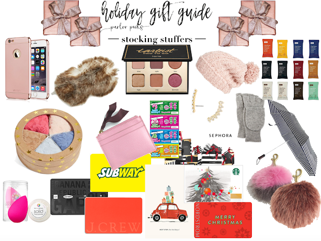 holiday gift guide parlor girl stocking stuffers