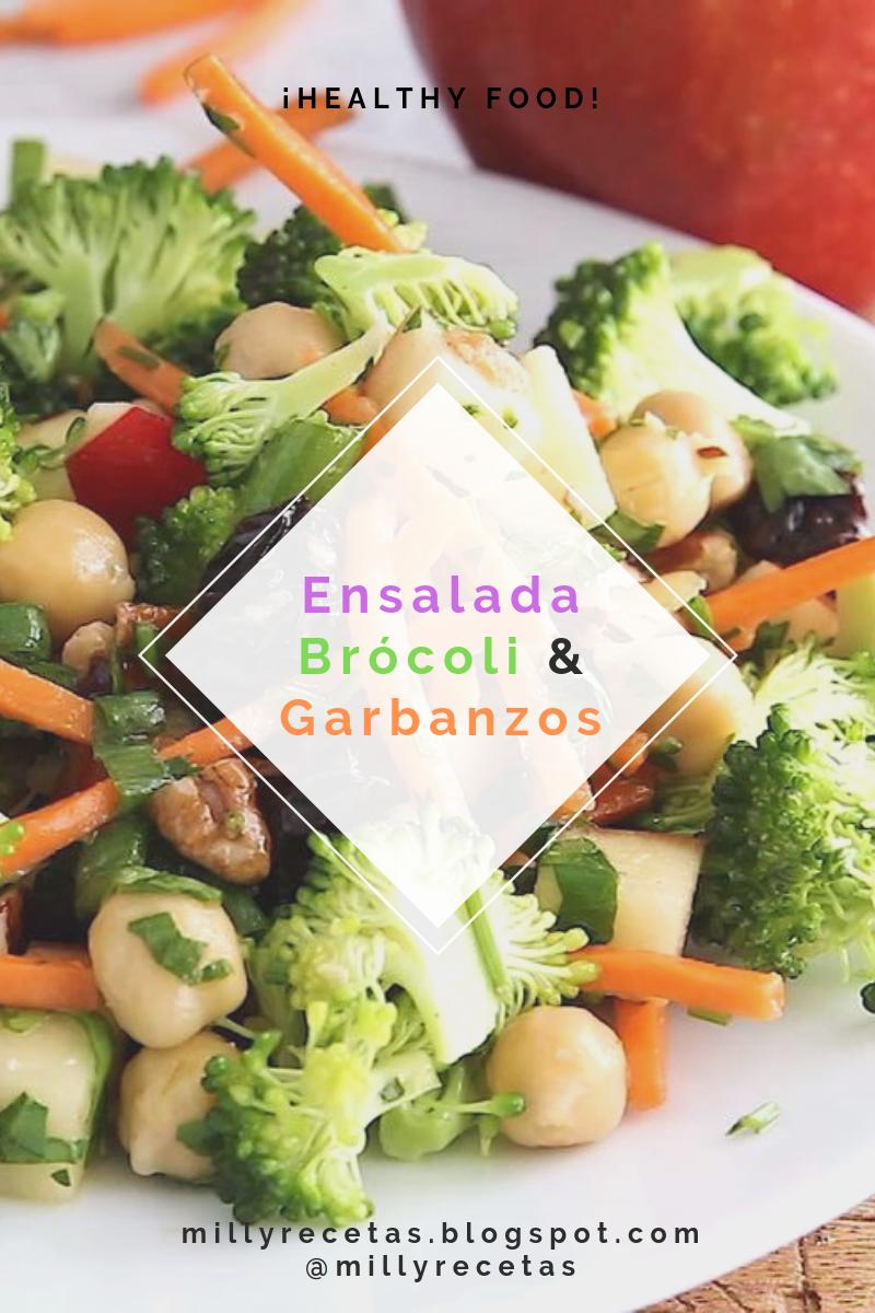 Ensalada De Brócoli, Manzana y Garbanzos