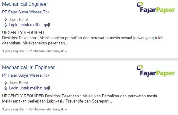 Info Loker Terbaru PT Fajar Surya Wisesa,Tbk Bandung 2020