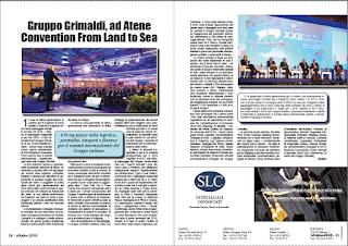 OTTOBRE 2018 PAG.24 - Gruppo Grimaldi, ad Atene Convention From Land to Sea