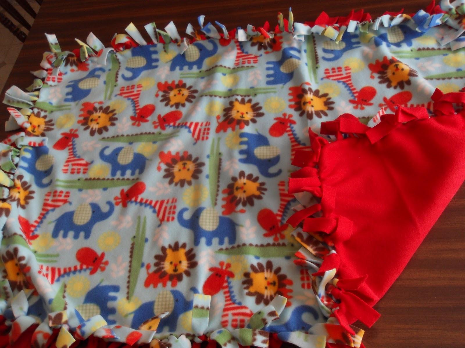 Simple Joy Crafting Fleece Tie Blankets For Charity