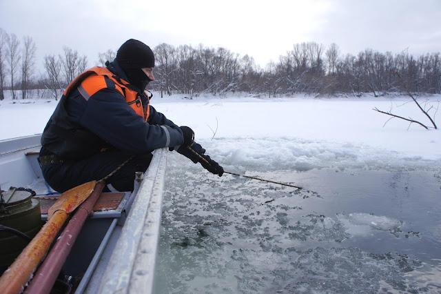 В Уфе под лёд провалился мужчина