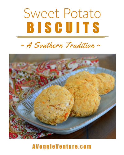 Sweet Potato Biscuits, a sweet southern tradition ♥ AVeggieVenture.com. Weeknight Easy, Weekend Special.
