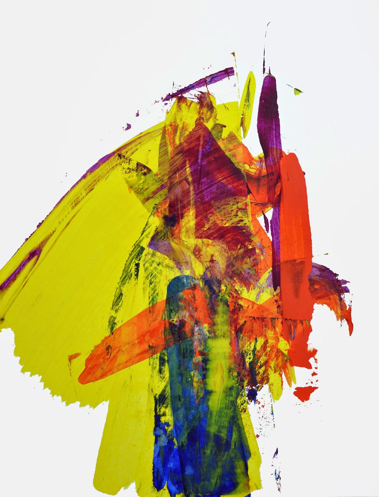 peinture acrylique sur papier jbb
