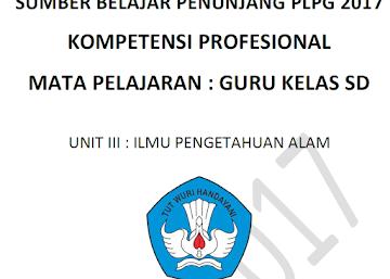 Inilah Materi PLPG 2017 Kompetensi Profesional Guru Kelas