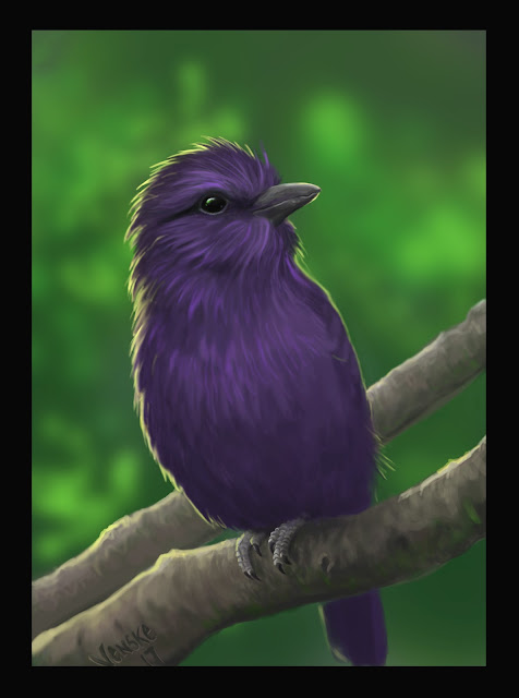 Mythical purple bird- Photoshop CC 2017