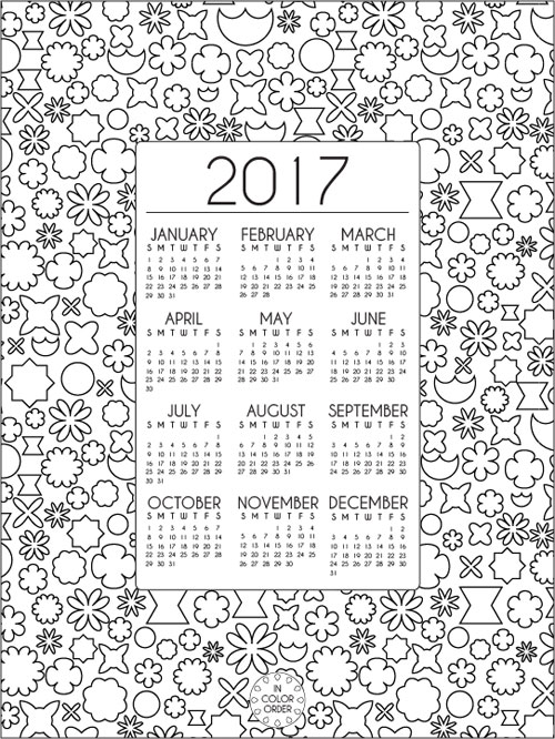 In Color Order 2017 Printable + Desktop Calendars