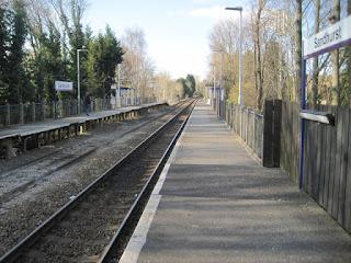 Sandhurst station platform.