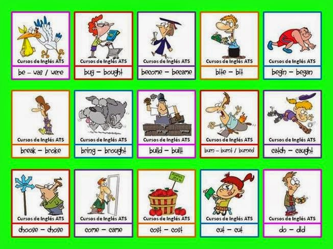 Valme\u0027s English Corner Irregular Verb List + Games