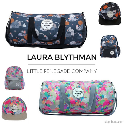 Laura Blythman kids' backpacks, duffles and caps for Little Renegade Company