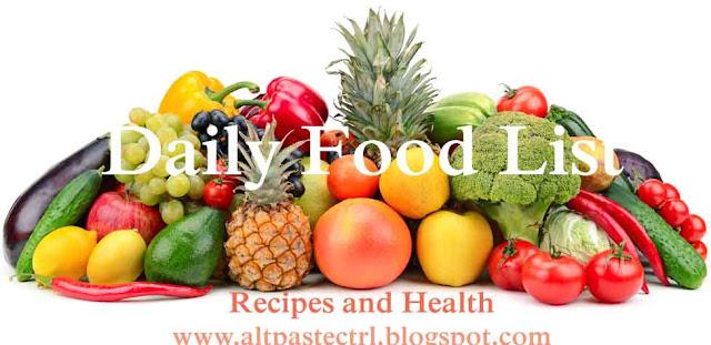 daily food list