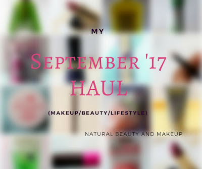 Natural Beauty And Makeup September Haul feature cosmetics and skincare products, Revlon, Hello Kitty, ST.Ives, Patanjali