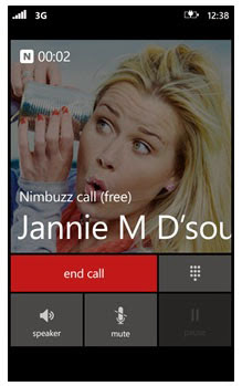 Nimbuzz for Windows Phone 8 updated, brings Free HD quality Voice Calls