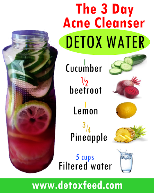 The 3 Day Acne Cleanser Detox Water