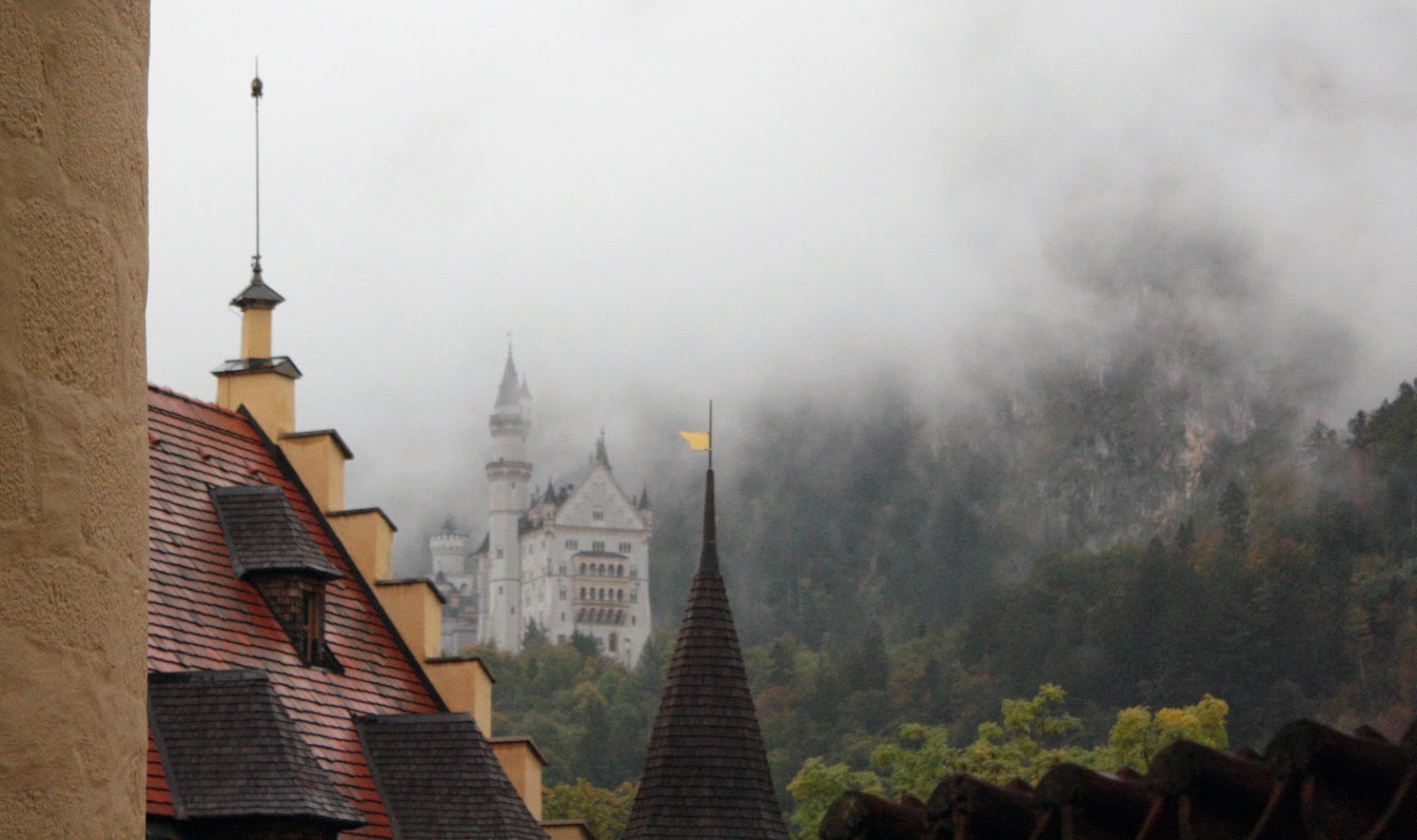 Neuschwanstein Castle in the mist - The Tipsy Terrier blog