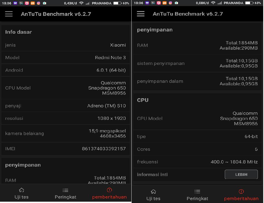 AnTuTu Benchmark; Aplikasi Android Untuk Melihat Spesifikasi dan ...