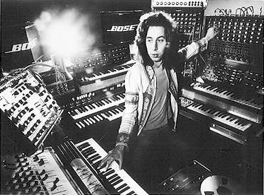 Michael Hoenig en el estudio durante la grabación de Departure From The Northern Wasteland