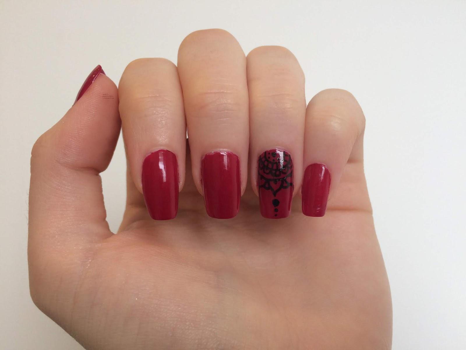 Nail Art Henna Nails
