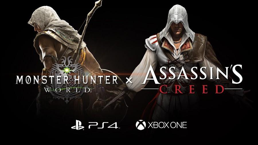 monster hunter world assassins creed crossover event