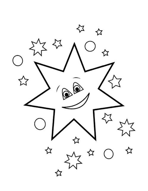 Gambar Mewarnai Bintang - 3
