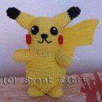 patron gratis pikachu pokemon amigurumi | Pokemon Pikachu amigurumi free pattern