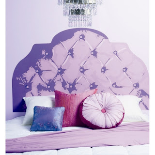 Purple bedroom ideas: Headboard wall sticker