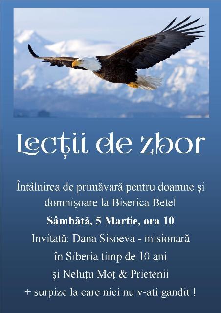Intalnirea pentru femei Lectii de zbor la Betel Timisoara - 05 martie 2016