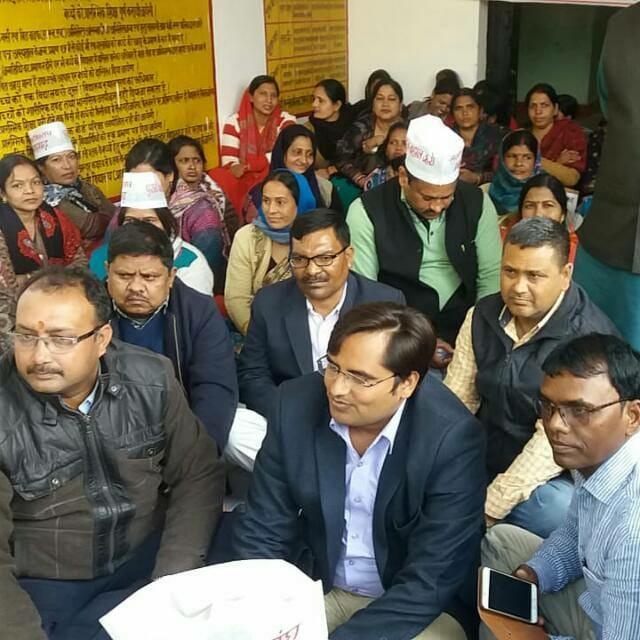 आजमगढ़ बीएसए ने दिया पुरानी पेंशन बहाली को समर्थन,कार्यवाही के डर से धरना स्थल पर ना पहुँचने वाले शिक्षक व कर्मचारियों के लिए सीख बने बीएसए साहब