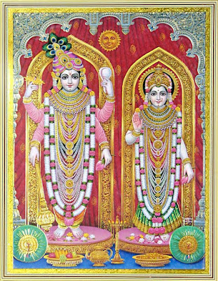 goddess lakshmi lord vishnu standing