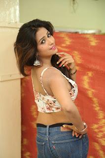 Deekshita Parvathi in a short crop top and Denim Jeans Spicy Pics Beautiful Actress Deekshita Parvathi January 2017 CelebxNext (47).JPG