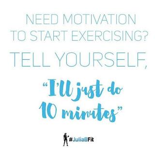 Need Motivation To Start Exercising? #JuliaBFit