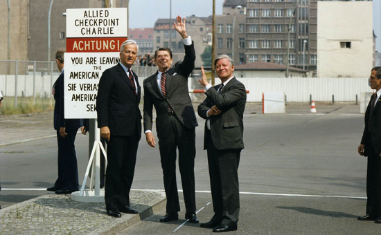 President Ronald Reagan at Checkpoint Charlie (June 11, 1982)