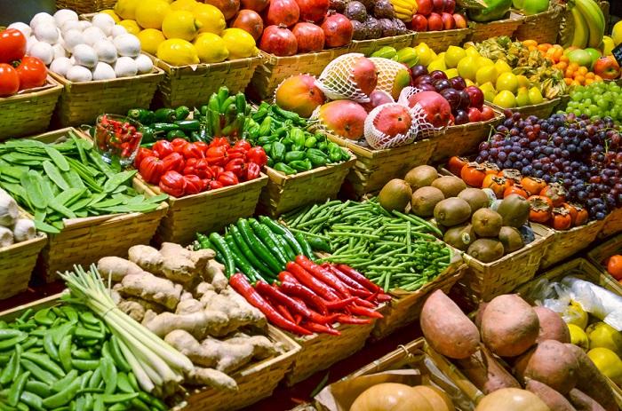 Legumes no mercado