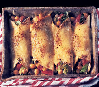 Cheesy Chickpea Enchiladas Recipe