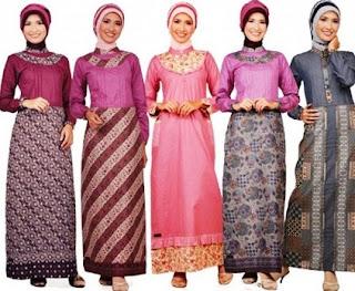 Long dress batik untuk remaja wanita muslim