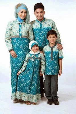 Model Busana Batik Lebaran Keluarga Modern Terbaru