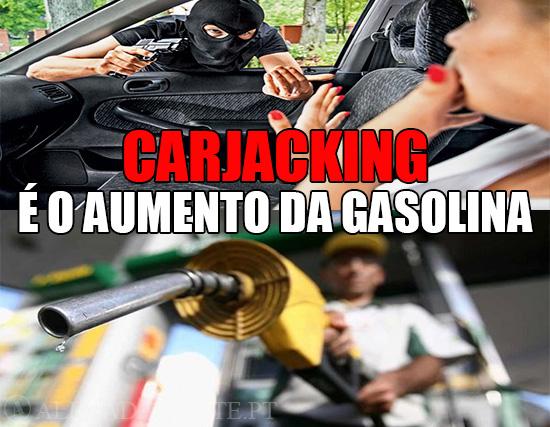 Imagens de Carjacking e de gasolina – O Carjacking, é o Aumento da Gasolina