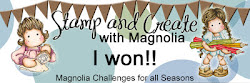 Winner Stamp and create with magnolia challenge 61