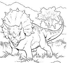 Dinosaur Triceratops Coloring Pages Images