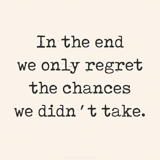 Travel Quotes. In the end we only regret the chances we didn't take - Lewis Carroll | The Wanderful Soul Blog