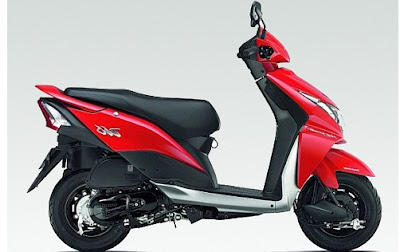 New Honda Dio Red side image